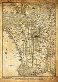 Map Los Angeles This A Reproduction Of A 1944 Street Map Of La The Map Includes