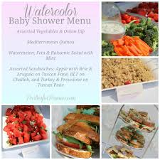 watercolor baby shower menu by partiesforpennies com baby shower