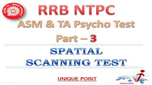 rrb ntpc asm psycho test part iii spatial scanning test youtube
