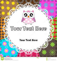 patchwork background with owl royalty free stock image image