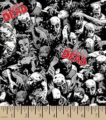 Halloween Material Fabric Walking Dead Zombies Cotton Fabric Fabric Pinterest Walking