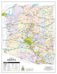 Arizona Maps by Arizona State Road Map Arizona Us U2022 Mappery