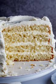 lemon yoghurt layer cake with white chocolate frosting simply