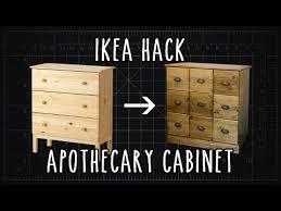apothecary dresser ikea hack tarva apothecary cabinet diy youtube