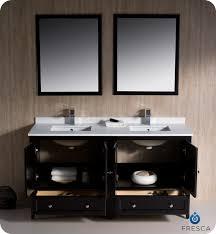 54 Bathroom Vanity Double Sink Fresca Oxford 60