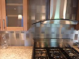 Incredible Stainless Steel Kitchen Backsplashes With Tiles For - Silver backsplash