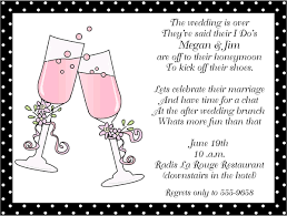 brunch invitation wording toasting flutes after wedding brunch invitations