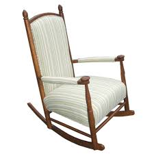 the easiness of a child upholstered rocking chair drew home