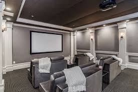 Home Theatre Design Los Angeles Traditional Home Theater With High Ceiling U0026 Carpet In Los Angeles