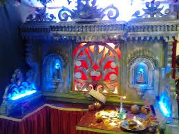 Decorate Mandir At Home Varada Art Ganapati Makhar And Decoration