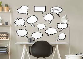 dry erase thought bubbles wall decal shop fathead for dry erase