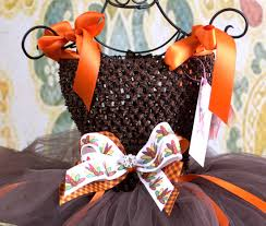 thanksgiving harvest baby couture tutu dress foods
