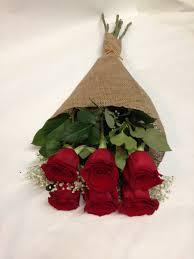 a dozen roses half a dozen roses in a burlap wrap in san francisco ca flowers