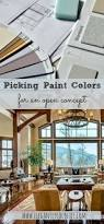 picking out paint colors for an open concept room