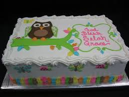 owl birthday sheet cakes cakes specialty cakes birthday