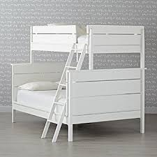 White Wooden Bunk Bed Wood Bunk Beds Crate And Barrel