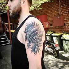 Shoulder To Arm Tattoos 74 Magnificent Eagle Tattoos For Arm