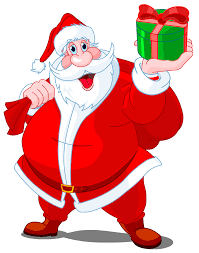 animated santa claus transparent santa claus with green gift png clipart gallery
