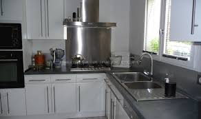 hotte cuisine inox tole inox pour cuisine plan travail beton cire var with tole inox