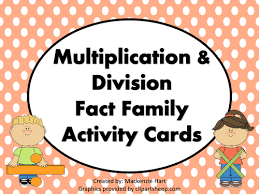 multiplication u0026 division fact family houses by mlhart2011