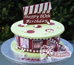 Movie Themed Cake Decorations Film Reel Cake Nc249 Amarantos Cakes