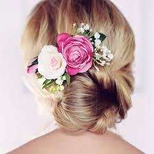 flower girl hairstyles uk silk flower hair accessories