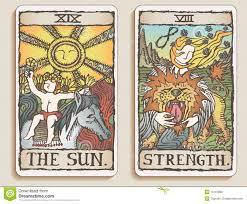 two tarot cards v 8 royalty free stock photos image 15191898