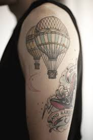 24 air balloon tattoos with uplifting meanings tattoos win