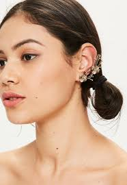 ear cuff images gold floral ear cuff missguided