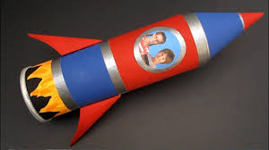 diy rocket ship pencil case back to craft recycled