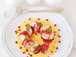 cuisiner queue de langoustes crues surgel馥s queues de homard au sabayon de chagne recette sur cuisine