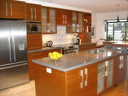 wood countertops long narrow kitchen island lighting flooring