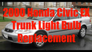 how to replace trunk light 2000 honda civic ex youtube