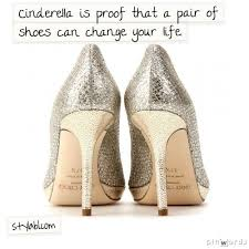 wedding shoes chagne cinderella is proof that a pair of shoes can change your