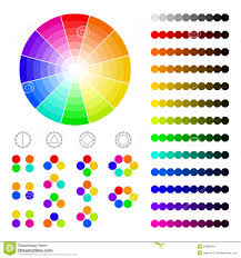 color wheel with shade of colors color harmony stock vector