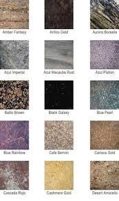 granite color chart ivory brown or violette dream kitchen