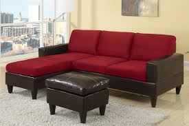 sofas center modern black and red leather sectional sofa coffee