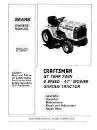 23302 craftsman gt18 garden tractor 917 255917 tractor lawn mower