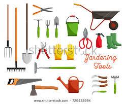 Types Of Garden Rakes - set various gardening items garden tools stock vector 274954091