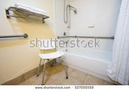 Bathroom Handicap Rails Handicap Hotel Bathroom Shower Bathtub Hand Stock Photo 527055559