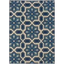 10x10 Outdoor Rug Stylehaven Tiles Ivory Blue Indoor Outdoor Area Rug 6 U00277x9 U00276