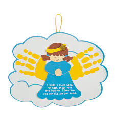 angel handprints poem christmas ornament craft kit