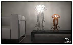 Jellyfish Pendant Light Lamp Jellyfish Aurelia Cutting File Lamp Pendant Light Wood
