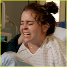 hair style giving birth mae whitman s amber gives birth in new parenthood promo watch