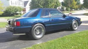 twilight blue mustang 1990 ford mustang notch 347 dart turbo ccw wheels