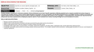 drug inspector cover letter u0026 resume
