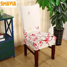 Fabric Dining Chair Covers Smavia Modern Spandex Elastic Dining Chair Slipcover Polyester