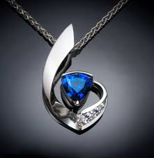 sapphire gem necklace images Blue sapphire necklace gemstone necklace mother 39 s day jpg