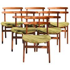 Ladder Back Dining Chairs Poul Volther Ladder Back Dining Chairs Set Of Six For Sale At 1stdibs