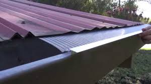 Corrugated Asphalt Roofing Panels by Easyon Gutterguard Installing On Corrugated Metal Roof Youtube